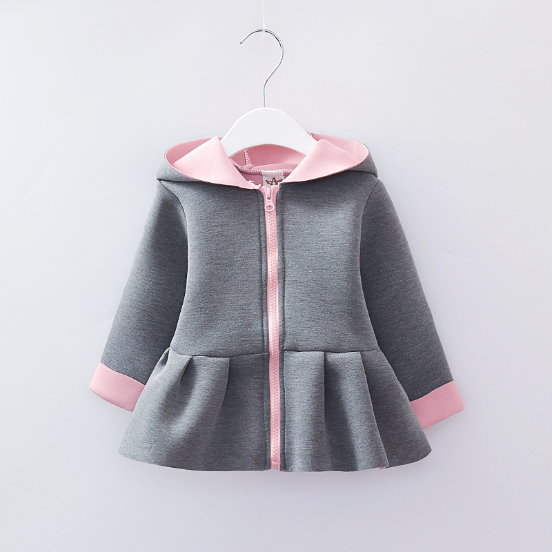 38592c084b3 New Baby Girl Coat Jacket Cute Girls Jackets Outerwear Spring Autumn  Children Clothes Coats for Girls Tops Hooded - aliexpress.com - imall.com