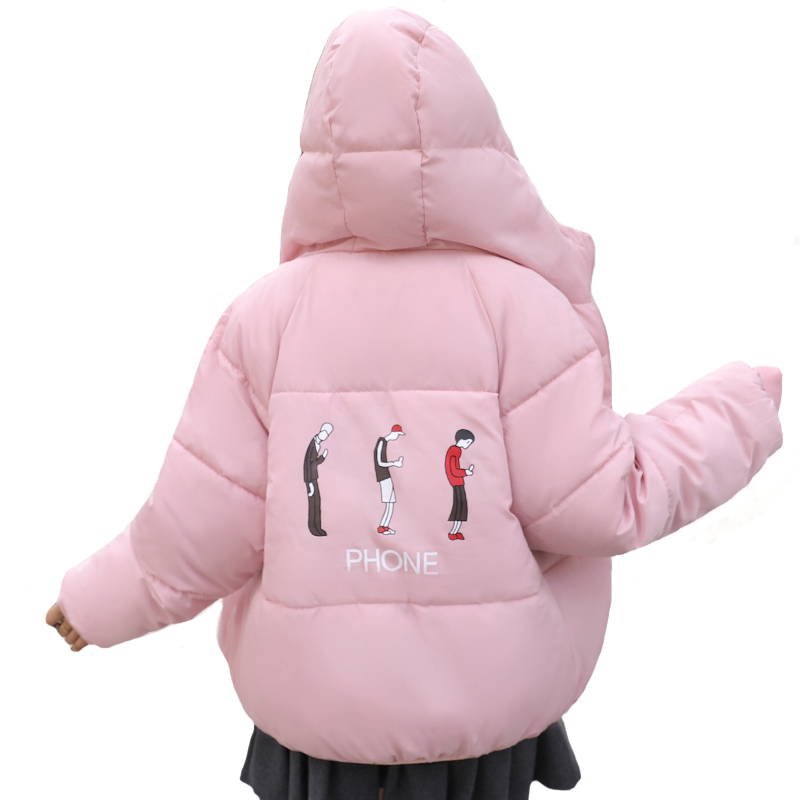 Hooded Cotton Padded Warm Thicken Winter Jacket Women Both Two Sides Can Wear Fashion Ladies Coat Short   Parka   Camperas Mujer