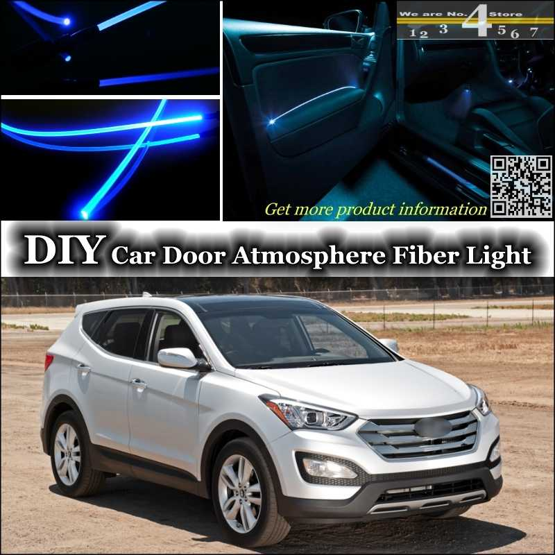 interior ambient light tuning atmosphere fiber optic band lights for hyundai santa fe inside door panel illumination tuning lighting pilot light light covers for ceiling lightslight wave aliexpress interior ambient light tuning