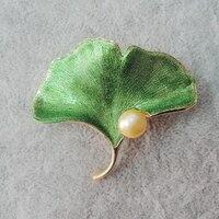 High Quality 100 Nature Fresh Water Pearl Brooch Very Fashion Leaf Brooch