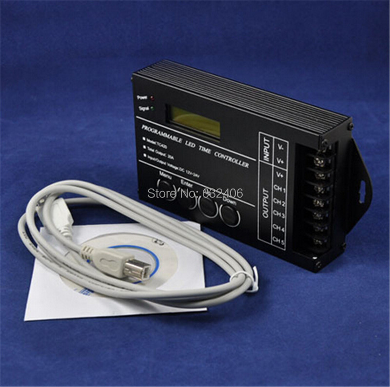 Programmable LED Time Controller - Multi-function LED Timer Dimmer Controller for RGBW/RGB/Dual/Single Color LED Lights