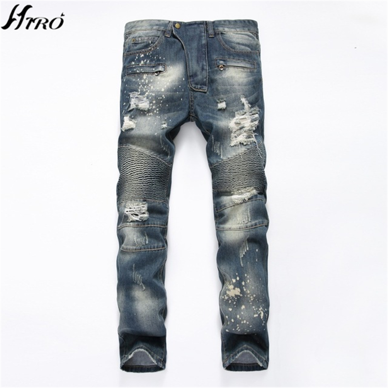 2017 Fashion Brand Upscale Cotton Men Jeans High Quality Designer Trouser European and American Casual Style Pant for Male Jeans