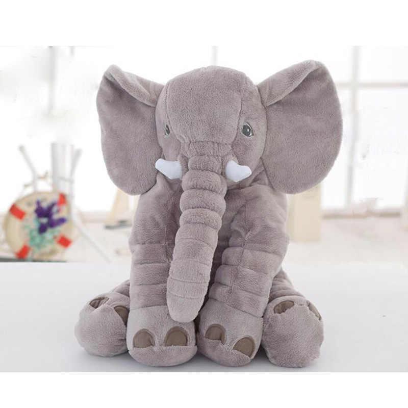 Creative Cute children bed Cushion gray Elephant Plush Toys Cute Dolls Soft Pillows Baby Sleeping Pillow doll baby birthday gift
