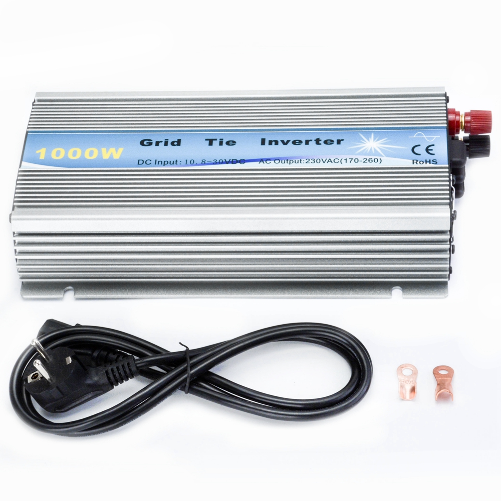 1000W Grid Tie Pure Sine Wave Inverter for Solar System Input 10V-30V Output 110(90-140)V,220(180-260)V Grid Tie Inverter maylar 22 60v 300w solar high frequency pure sine wave grid tie inverter output 90 160v 50hz 60hz for alternative energy