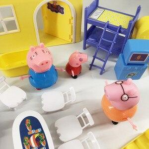 Image 5 - פפה חזיר ג ורג משפחת חברים צעצועי בובת מודל סצנה אמיתי פרק שעשועים בית PVC פעולה דמויות צעצועים