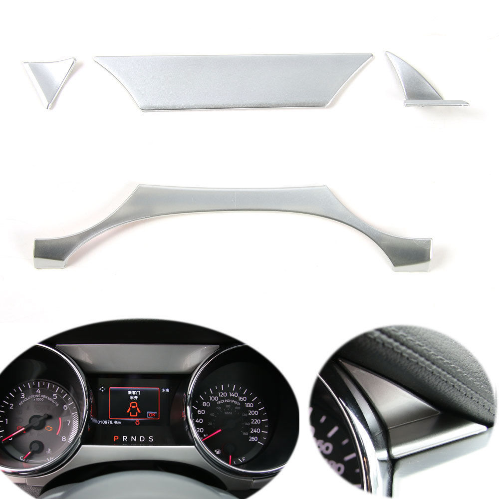 BBQ@FUKA 4pcs ABS Car-styling Dashboard Instrument Box Cover Trim Frame Fit For Ford Mustang 2015 2016 Car accessories car trunk trim strip for ford edge abs chromium styling car boot cover 3d stickers cover for ford edge 2015 2016 accessories