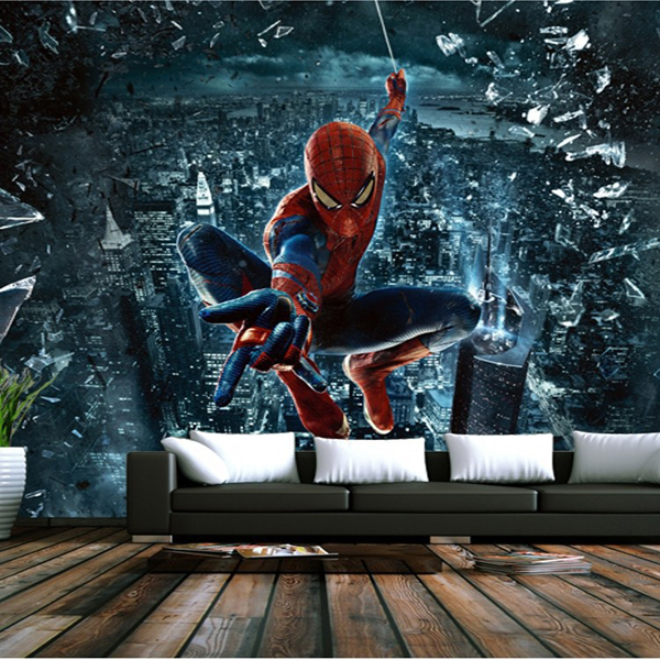 You Know D Mural Wallpaper Bedroom Living Room Backdrop Painted Mural Stereoscopic D Spiderman Tapete Wallpaper In Wallpapers From Home