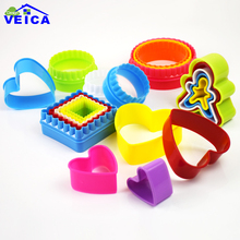 5pcs/set 4 Different Shaped plastic Cake mold cookie cutter biscuit stamp Sugar Craft cake decorations
