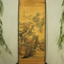 Antique collection Boutique Calligraphy and painting the Tang Bohu autumn diagram