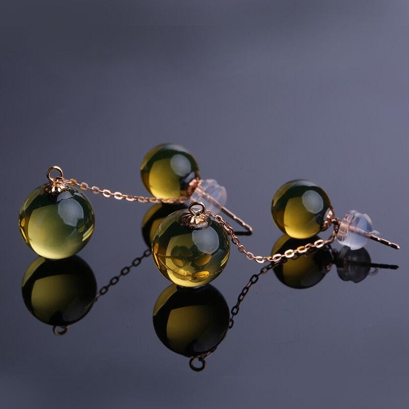 янтарные серьги с доставкой в Россию