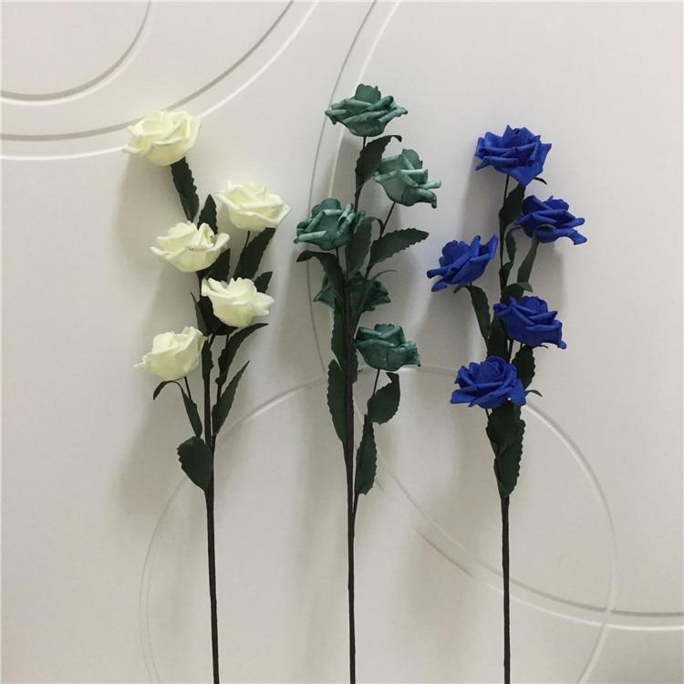 Hydrangea Stem Artificial Silk 72cm Stem Pale Blue