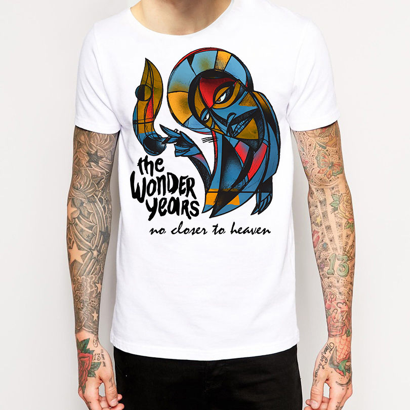Basic Models The Wonder Years T Shirt New Merchandise Pop Punk Crew Neck Men Short Sleeve Christmas Shirt