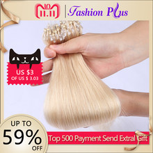 FashionPlus Micro Loop Ring Hair Extensions 613 Blonde Micro Bead Hair Extensions Micro link Hair Extensions 1g/s 100g 18''-24''(China)