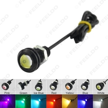 1Pc Power 3W Lens Ultra-thin 18mm Car LED Eagle Eye Tail light Backup Rear Lamp DRL Light 7 Colors #FD-1020