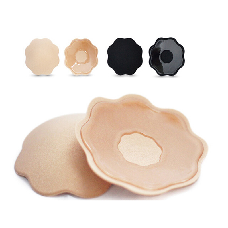1 Pair Sexy Self-Adhesive Women Nipple Cover Bra Breast Paste Stickers Invisible Bra Chest Paste Nipple Covers Washable TSLM1 Силиконы