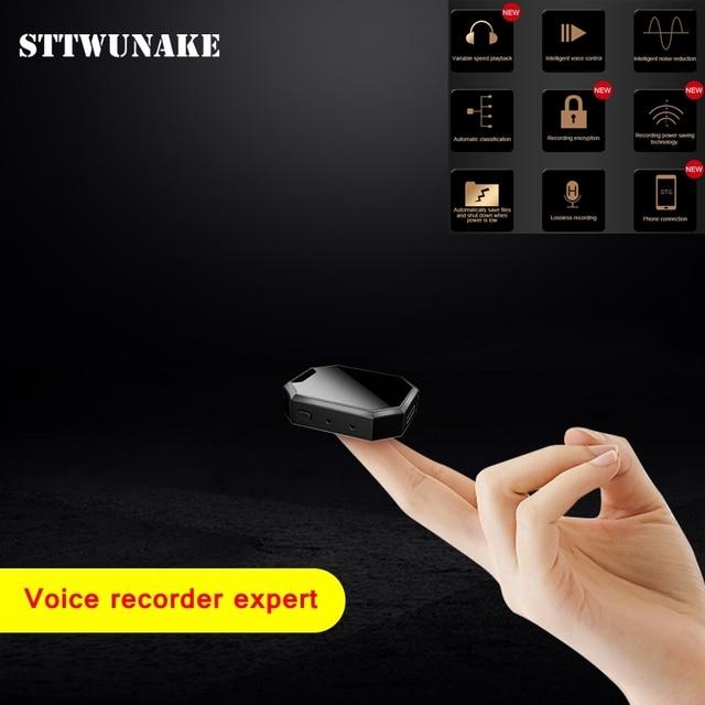 Sttwunake gravador de voz de áudio profissional digital hd ditaphone mini denoise escondido de longa distância de alta fidelidade original mp3