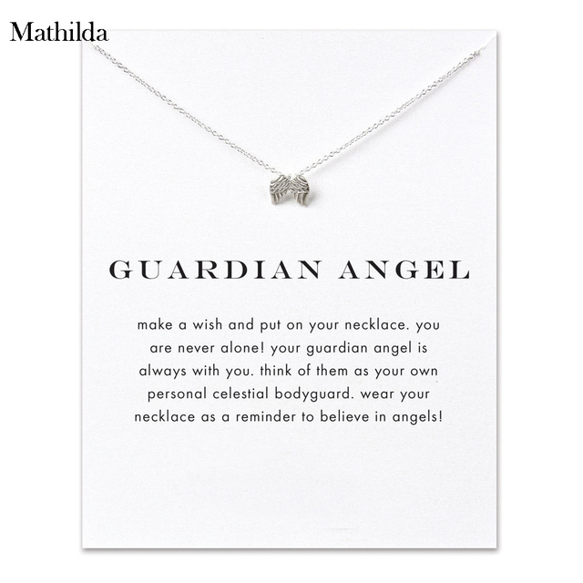 05225122d Guardian Angel, Angel Wings Silver Plated Pendant Necklace Clavicle Chain  Statement Necklace Women Jewelry E010