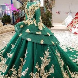Image 2 - AIJINGYU ガーデンウェディングドレス白ガウンプラスサイズイスラム教徒高級新 Dres ゴシックゴージャスなウェディングドレス価格