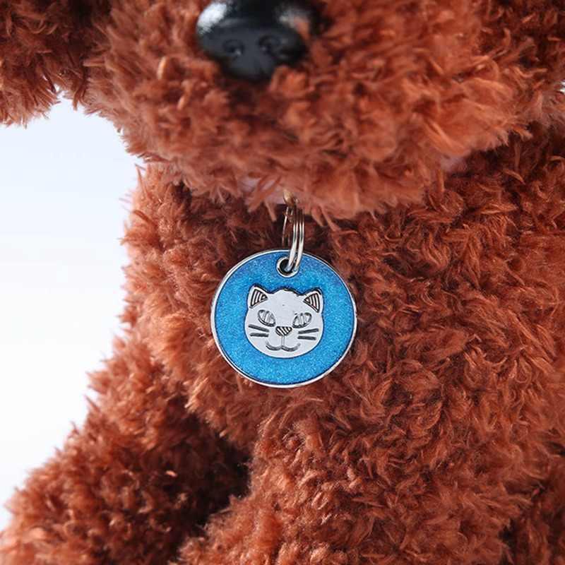 2 шт. собака кошка ID бирка Персонализированная кошка лицо форма печать ПЭТ имя пластины щенка собаки имя телефона номер бирки