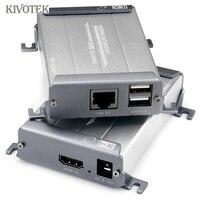 POE KVM видео удлинитель трансивер адаптер, расширение цифровой HDMI100m, USB 60 м, потеря меньше без задержки для видеонаблюдения HDTV DVD PC Бесплатная д