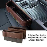 Universal Storage Box Car Organizer Seat Gap PU Case Pocket Car Seat Side Slit for Wallet Phone Coins Cigarette Keys Cards