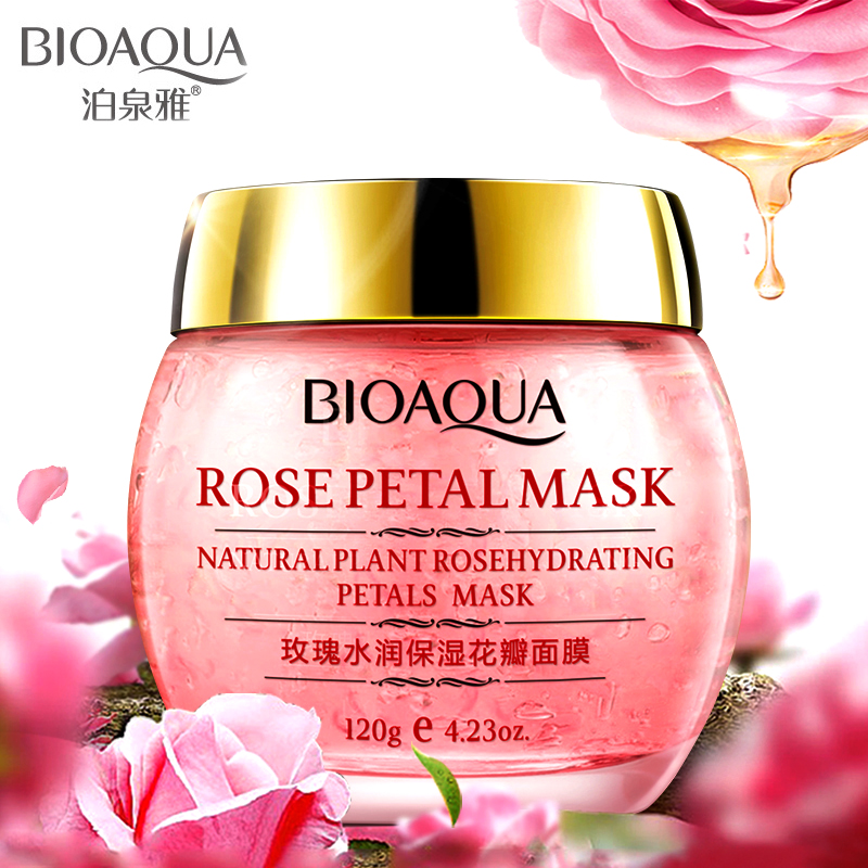 bioaqua Rose Hydra petals Fade out fine lines face Mask sleep mask for face care anti oil pores whitening skin care facial mask