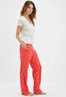 Delle donne di marca del pigiama imposta donne pigiama sciolto neve rosso pigiama di cotone donne pigiami homewears sml