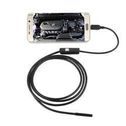 Водонепроницаемая камера-эндоскоп 720P HD 7 мм, Бороскоп с 6 светодиодами для телефонов Android, ПК, 1 м