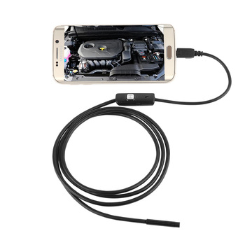 Waterproof 720P HD 7mm Lens Inspection Pipe 1m Endoscope Mini USB Camera Snake Tube with 6 LEDs Borescope For Android Phone PC 7mm lens android otg usb endoscope camera 2m smart android phone usb borescope inspection snake tube camera 6led