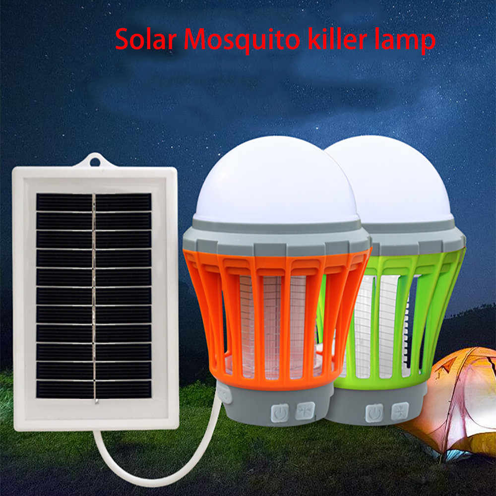 2019 Nieuwkomers Uv Solar Led Elektrische Fly Insect Bug Pest Mosquito Trap Killer Night Lamp Dropshipping Best Selling