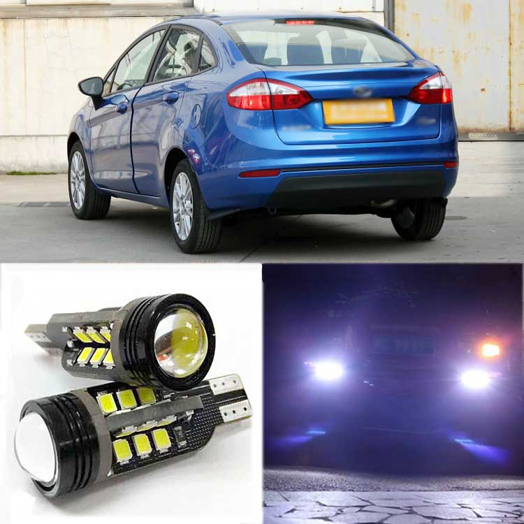 2pcs Brand New High Quality Superb Error Free 5050 SMD 360 Degrees LED Backup Reverse light Bulbs T15 For Ford Fiesta 2013 2pcs high quality superb error free 5050 smd 360 degrees led backup reverse light bulbs t20 for hyundai i30