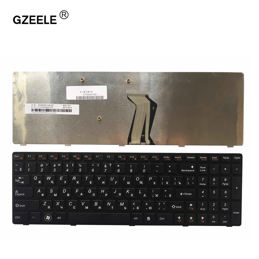 GZEELE RUSSIAN Keyboard for LENOVO Y580 Y580N Y580A Y590 Y590N RU Laptop Keyboard black new russian laptop keyboard for lenovo b5400 b5400a m5400 m5400at ru keyboard black