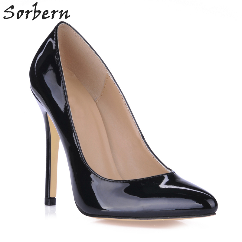 Sorbern Women Pumps Sexy 12CM Pointed Toe Real Image Ladies Party Shoes Patent Leather Custom Made Color Ladies Party Shoes 2016 red womens pumps chaussure femme cheap shoes for women real image fashion custom made ladies party evening shoes hot