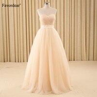 Favordear Simple Sweetheart A line Wedding Dress Turkey Vestido De Novia Bridal Gowns with Ribbons Robe Mariee Sexy Wedding Gown