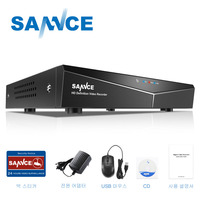 SANNCE 4 Channel 5 in 1 720P DVR H.264 Video Recorder HDMI Network Realtime CCTV DVR 4CH for Home CCTV Security Camera System