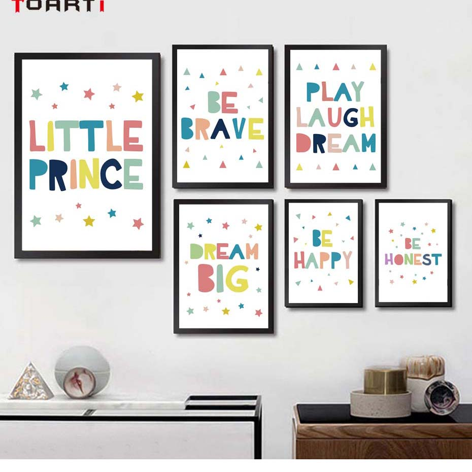 Watercolor Printed Dream Big Little Prince Encourage Quotes Canvas ...
