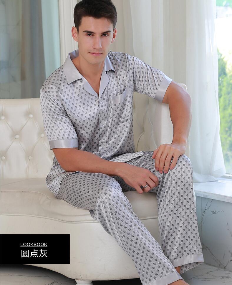 2017 New Hot Sale Pijamas Hombre Pyjamas Men Male Pajamas Summer Mens Short Sleeved Pants Suit