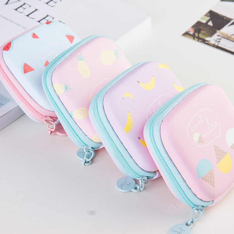 ETya 漫画かわいいフルーツコインバッグジッパーフルーツコインケース財布ミニ財布ロットガールイヤホン収納袋
