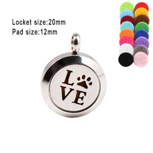 Various Love Thread  20mm Perfume Lockets Stainless Steel Locket Free Pads Diffuser Pendant 10pcs(Free Pads)