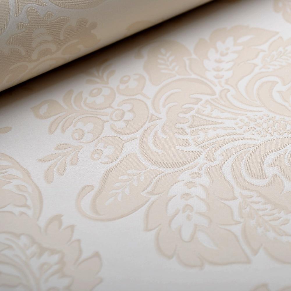 aliexpress.com : acquista texture carta da parati damascata crema ... - Sala Da Pranzo Contemporanea Con Strutturata Beige Grasscloth Carta Da Parati