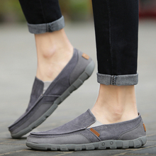 2017 Fashion Washed Denim Casual Doug Peas Croc Shoes Foot Pedal Shoes Lazy Fashion Canvas Flats Driving Shoes Zapatos Hombre