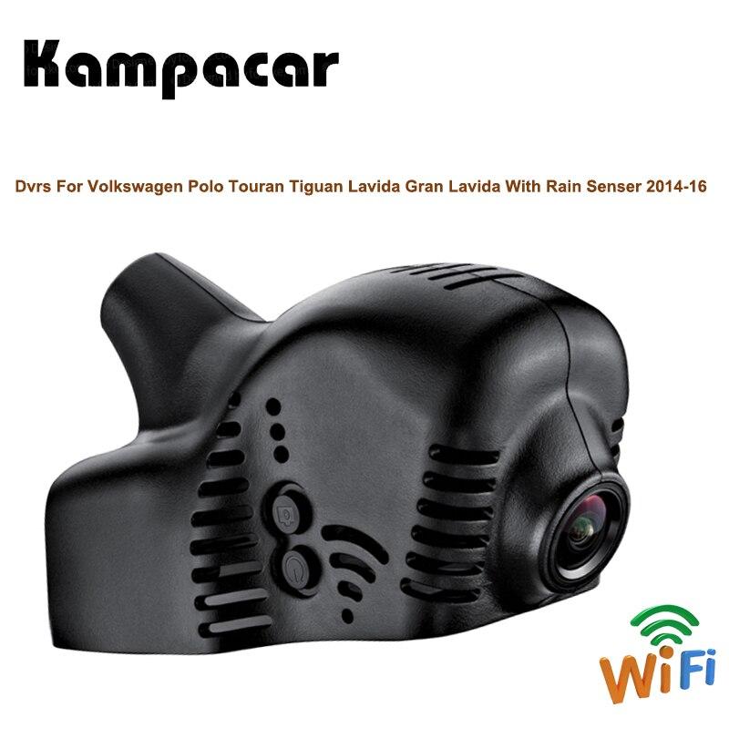 Kampacar Rearview Mirror Wifi Front Video Camera For Volkswagen Polo Touran Tiguan Lavida Gran Lavida With