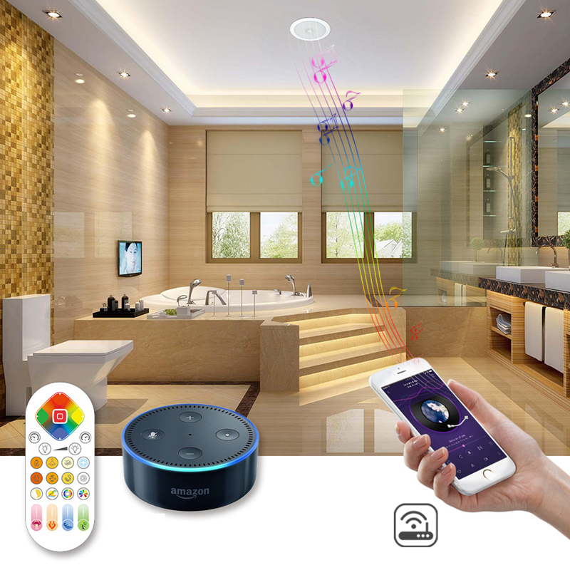 Ceiling Lights Arilux 24w Music Ceiling Light Wifi Remote Voice Control Bluetooth Speaker Rgbw+ww Led Ceiling Down Light Support Alexa