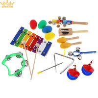 8 Tone Xylophone Set 9 Kinds Kids Musical Instruments Percussion Toys for Children / Baby / Early Education