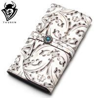 Tauren Accordion Wallet Brush Color Carve Famous Brand Designer Luxury Long Walet Women Wallets Female Bag