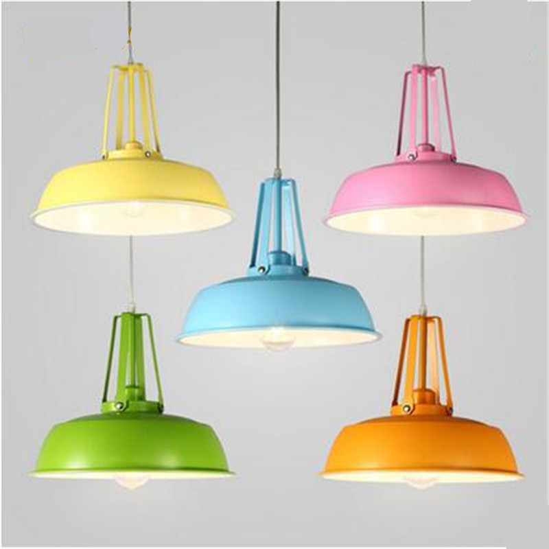 Nordic Minimalism Candy Colors Painted Aluminum Led E27 Pendant Light for Dining Room Restaurant Bar Dia 36/45cm 2203Nordic Minimalism Candy Colors Painted Aluminum Led E27 Pendant Light for Dining Room Restaurant Bar Dia 36/45cm 2203