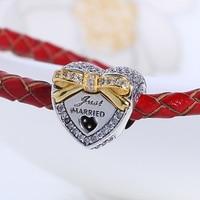 Nouveau Gros Fit Pandora charm Bracelet D'origine 100% 925 Argent Bowknot Cadeau Coeur Perles Charmes bricolage fabrication De Bijoux