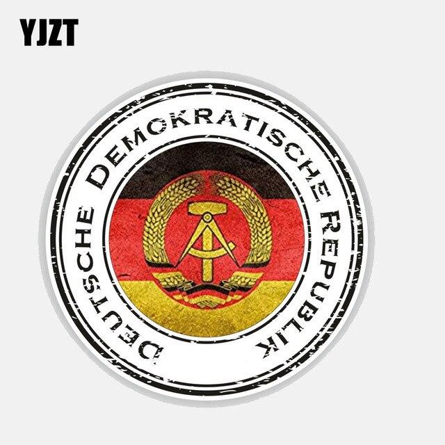 YJZT 12.8 CM * 12.8 CM voiture style Deutsche Demokratische Republik allemagne voiture autocollant autocollant 6-2702