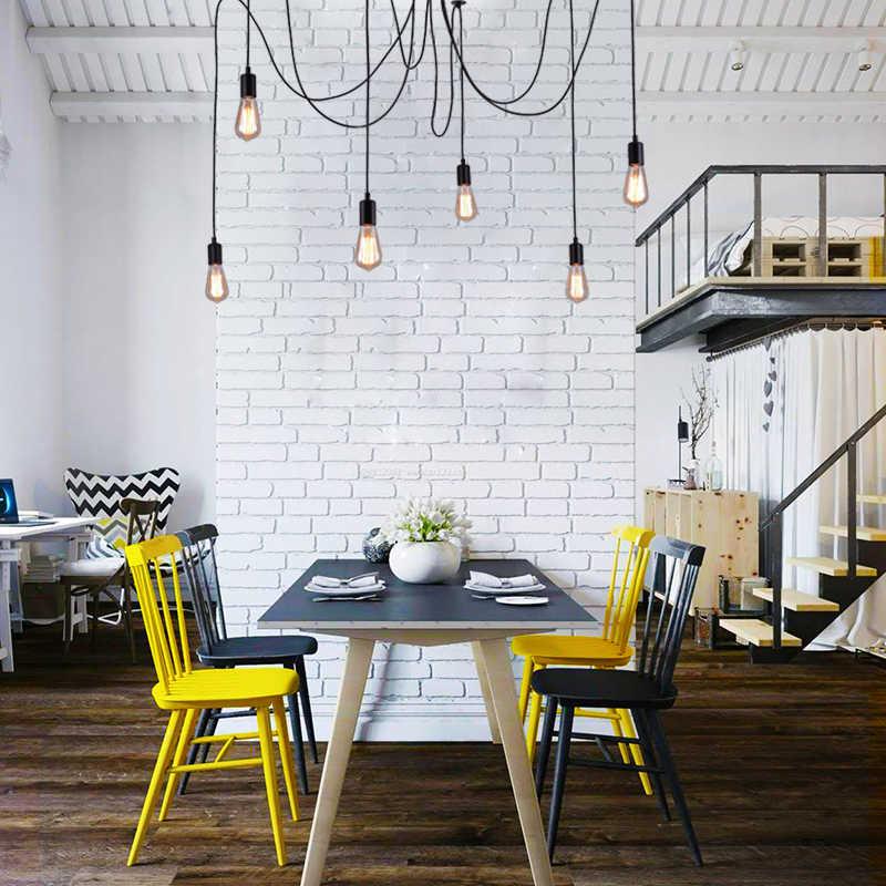 KARWEN Скандинавская люстра подвесной светильник E27 ретро промышленный паук 2 м винтажный Лофт антикварный светильник для гостиной