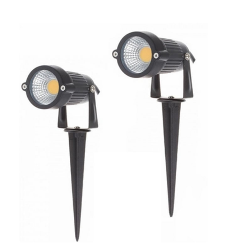 SPLEVISI 5W COB LED Outdoor Waterproof Garden Fence Backyard Flood Spot Light 12V Warm White Cool White youoklight 0 5w 3 led white light mini waterproof solar powered fence garden lamp black